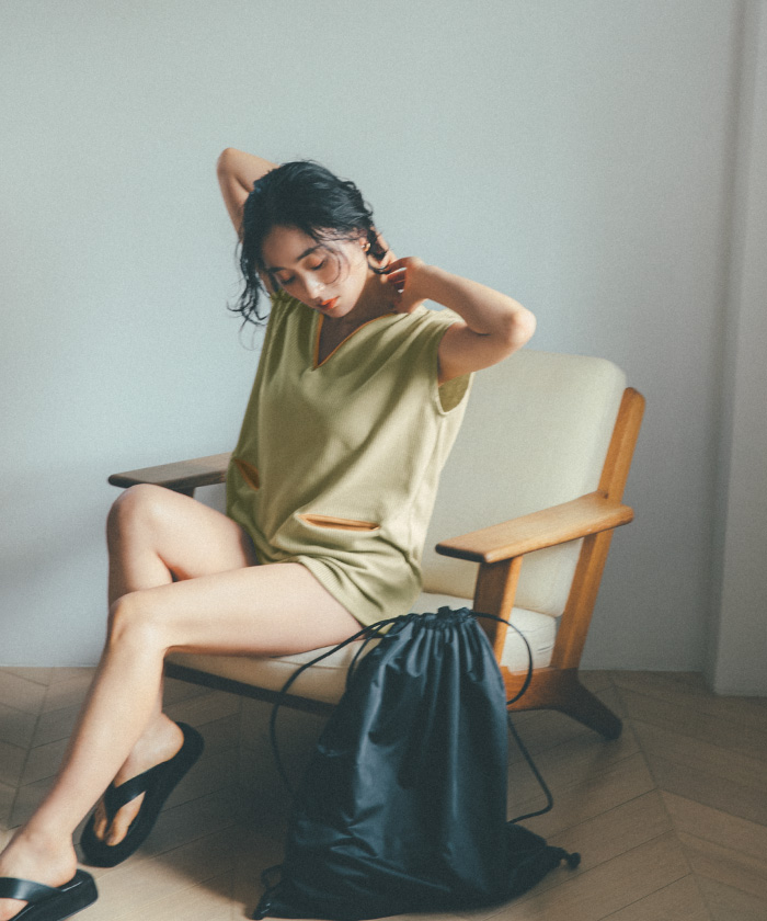 カップ付オーバートップスビキニ/水着〔人気商品!予約〕